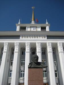 Lenin vor dem Haus des Sowjets (Foto: Lehermayr)