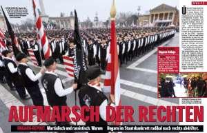 Die ungarische Garde auf dem Budapester Heldenplatz