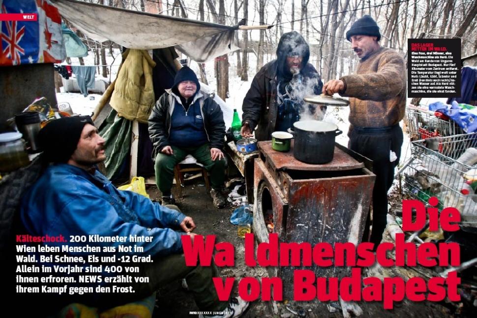 Das Lager mitten im Wald (Foto: Marcus Elöd Deák)