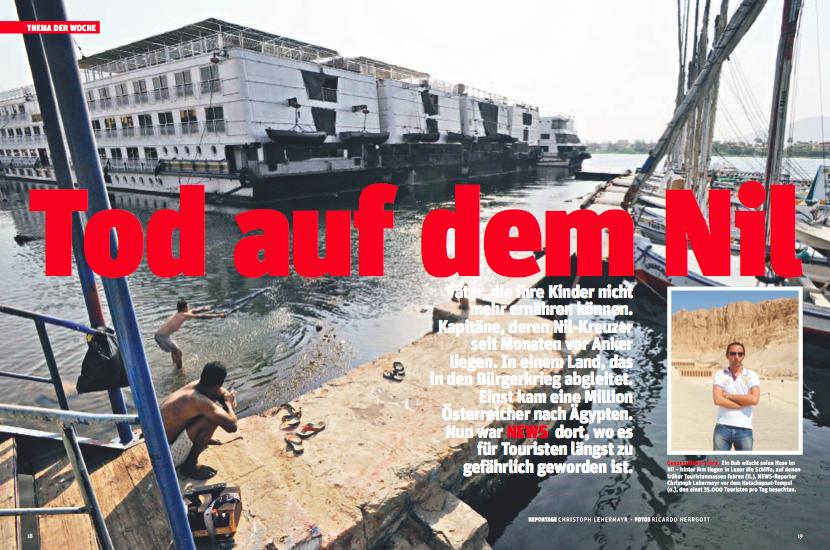Verlassene Kreuzfahrtschiffe und Arme, die ihre Wäsche im Nil waschen - Luxor 2013 (Foto: Ricardo Herrgott)