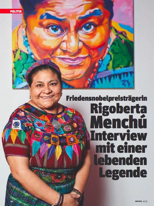 Friedensnobelpreisträgerin Menchú (Foto: Heinz S. Tesarek)
