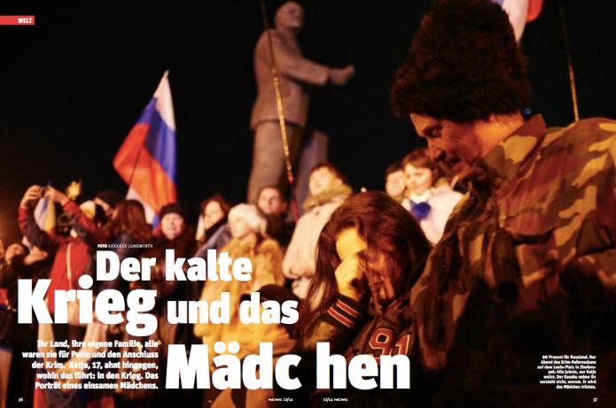 96 Prozent für Russland: Katja, der Kosake und die Tränen (Foto: Heinz Stephan Tesarek)