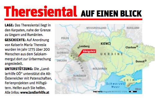 Karte Theresiental