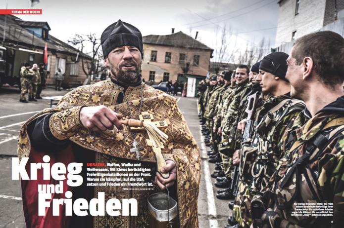 Angelobung von Freiwilligen des gefürchteten Aidar-Bataillons in der Ostukraine (Foto: Ricardo Herrgott)