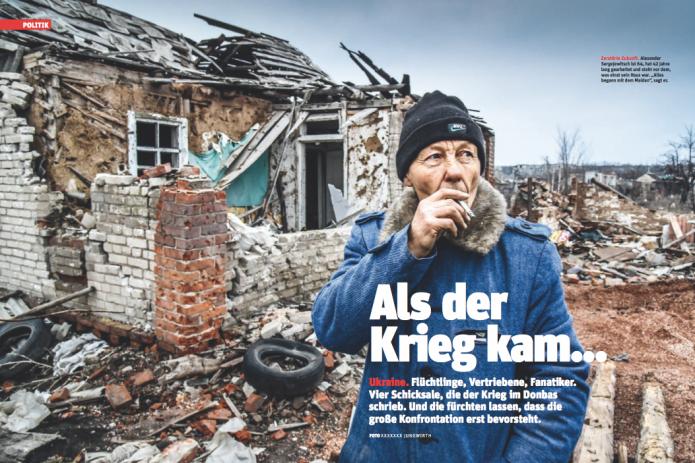 Alexander Sergejewitsch ist 64 und steht vor dem, was einst sein Haus war (Foto: Ricardo Herrgott)
