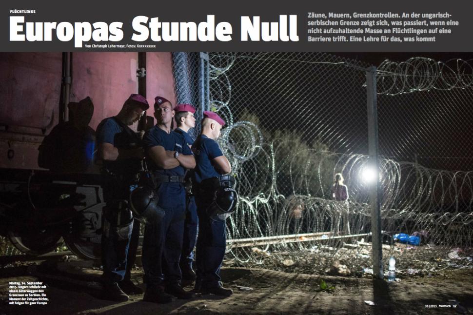 Der Moment, an dem Ungarns Grenze zu Serbien abgeriegelt wird (Foto: Ricardo Herrgott)